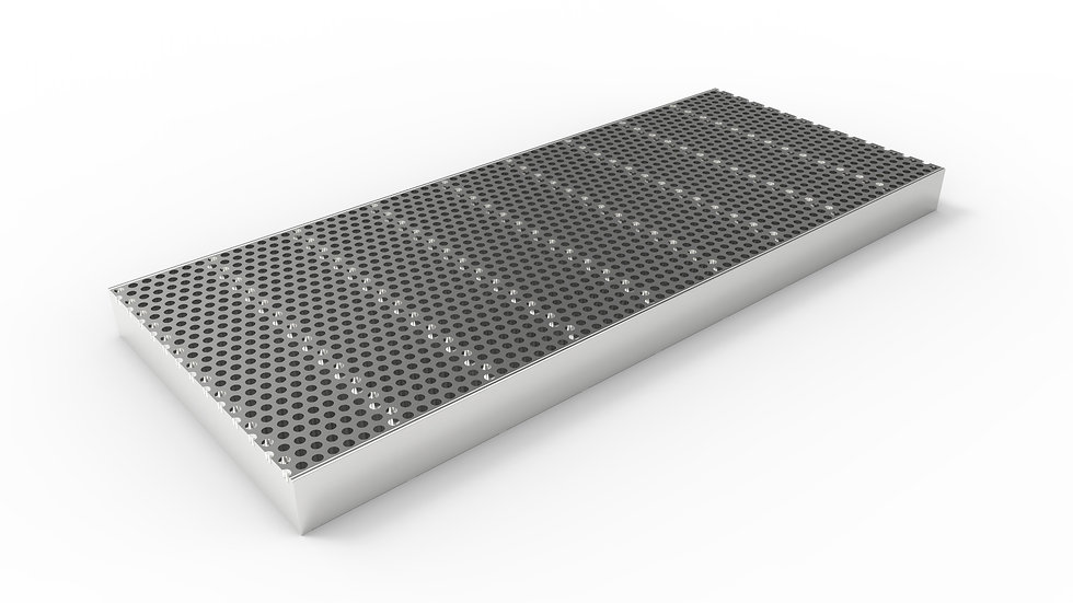 """10"""" wide stainless perforated trench drain grate"""