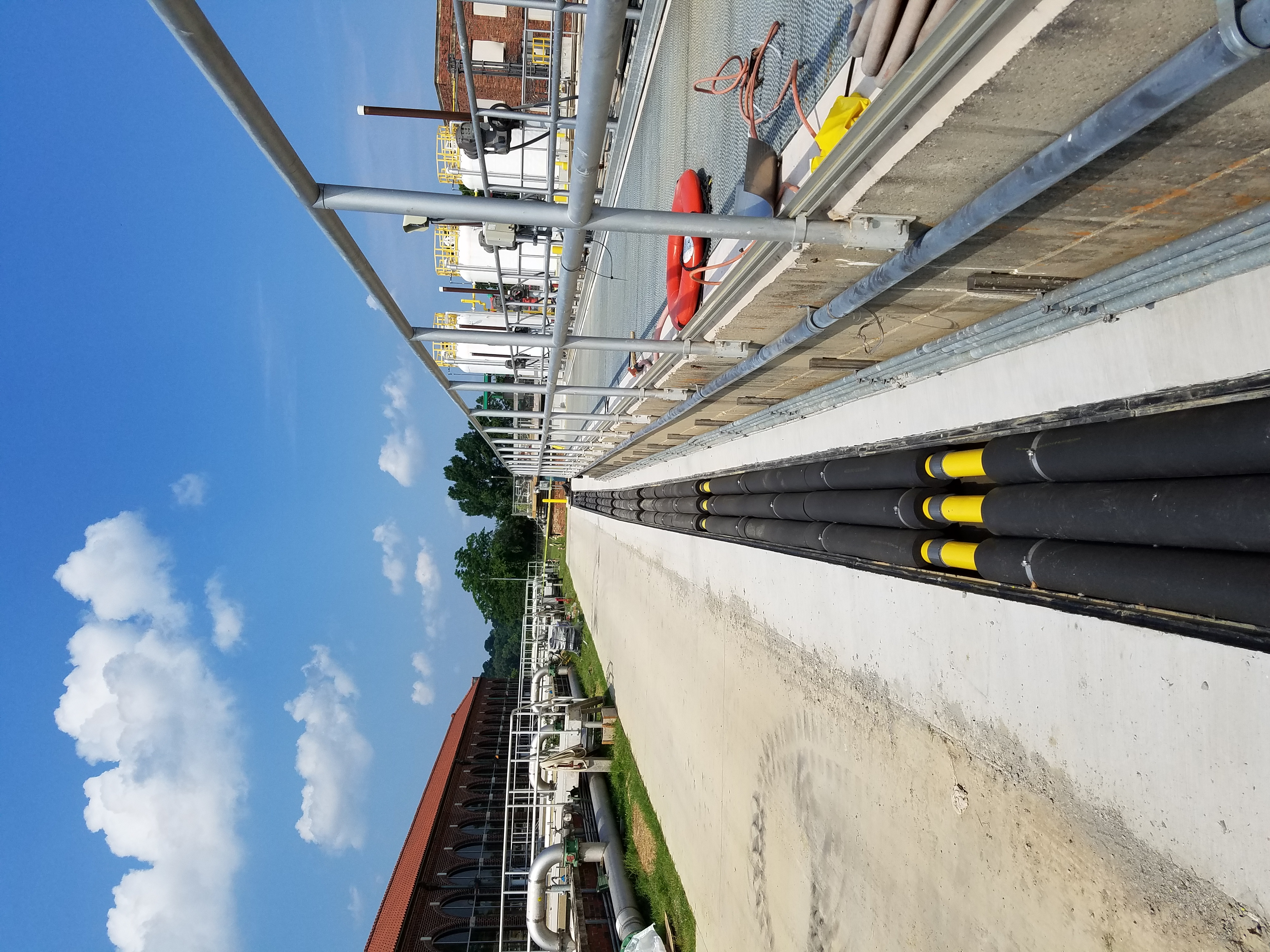 Waste Water Treatment Utility trench