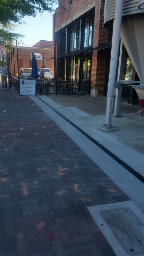 Streetscape ornamental trench drain system