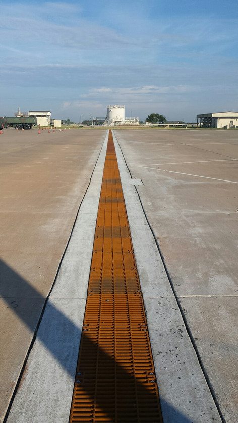 Aircraft trench drain at Sheppard AFB, TX