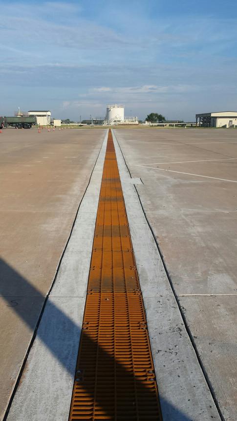 Aircraft trench drain at Sheppard AFB, TX