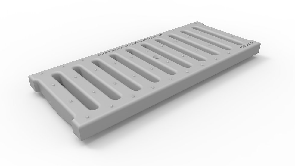 "10"" wide FRP slotted trench drain grate"