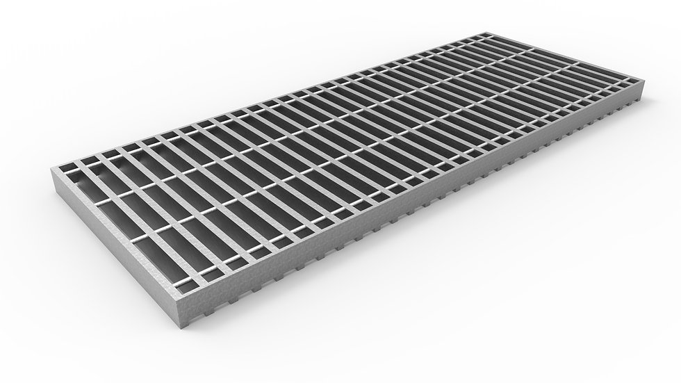 "14"" wide galvanized steel trench drain bar grate"