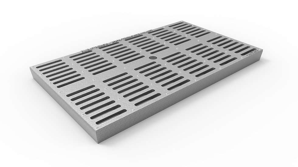 """14"""" wide ADA/Heel Proof galvanized iron slotted trench drain grate"""