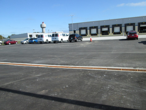 Trench drain system at Tampa International Airport