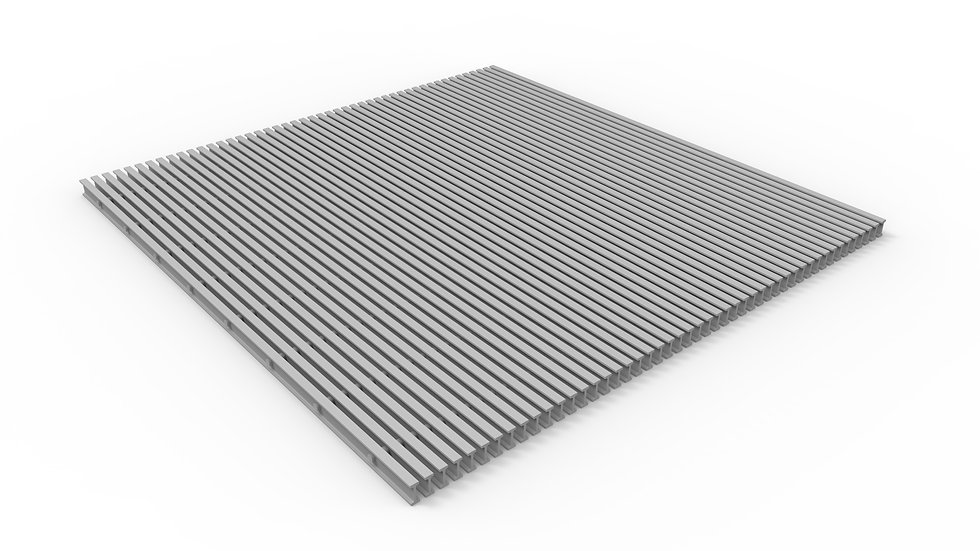 "50"" wide ADA compliant pultruded fiberglass trench drain grate"