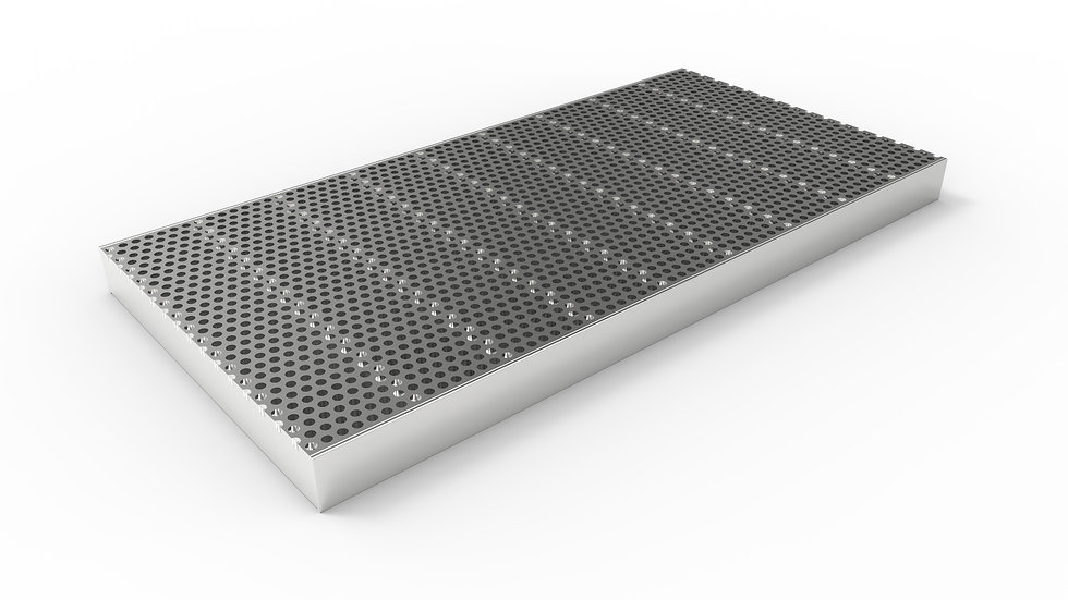 """12"""" wide stainless perforated trench drain grate"""