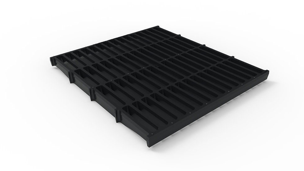 """26"""" wide ductile iron slotted trench drain grate"""