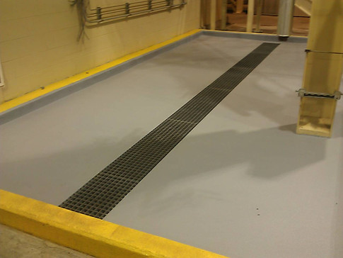 Chemical spill trench drain system