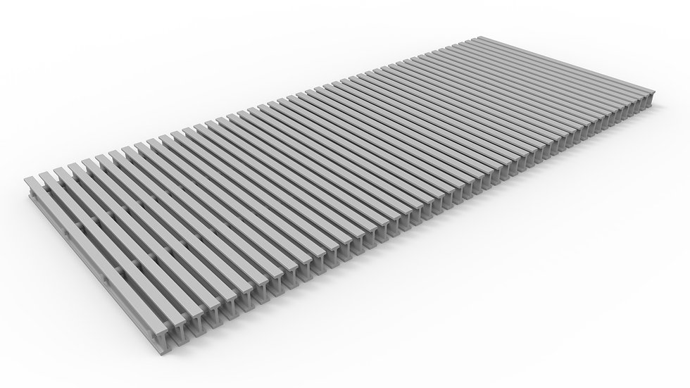 "20"" wide ADA compliant fiberglass trench drain bar grate"