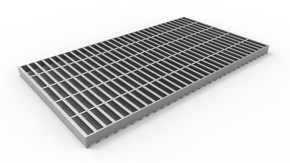 "20"" wide galvanized steel trench drain bar grate"