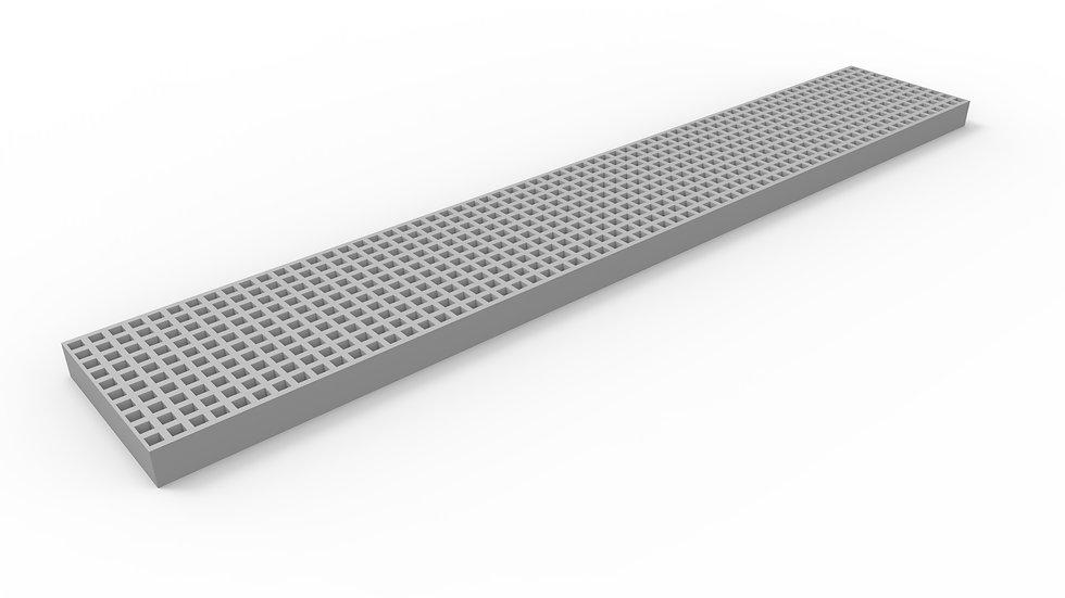 "8"" wide ADA compliant fiberglass mesh trench drain grate"