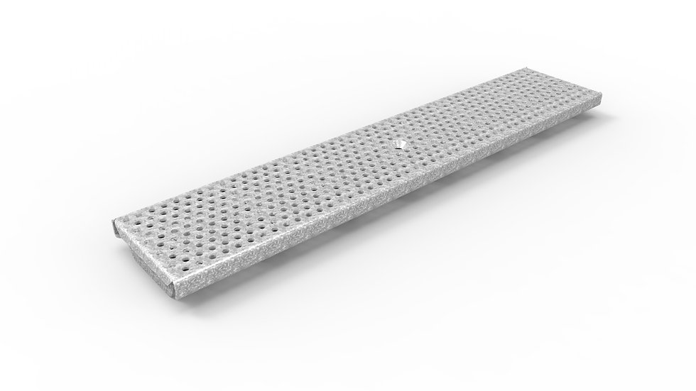 "5"" wide perforated galvanized steel trench drain grate"