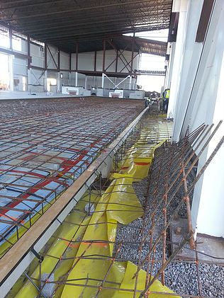 Trench drain system in Military Maintenance Facility