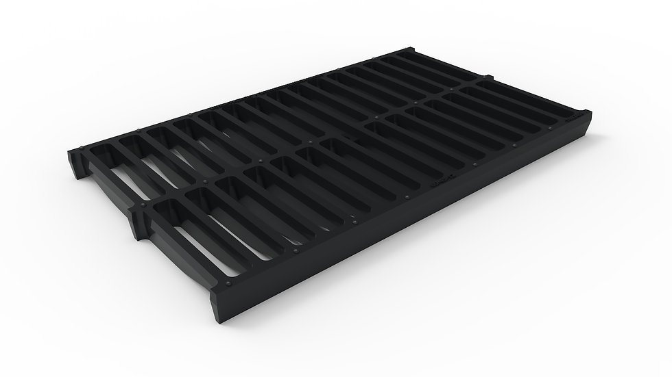 "14"" wide ductile iron slotted trench drain grate"