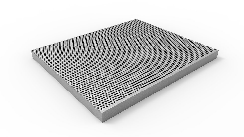 """38"""" wide stainless perforated trench drain grate"""