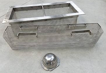 channel drain strainers, baskets, and screens