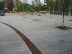 University radius trench drain system