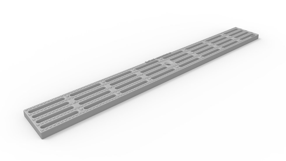 "3"" wide longitudinally slotted plastic trench drain grate"
