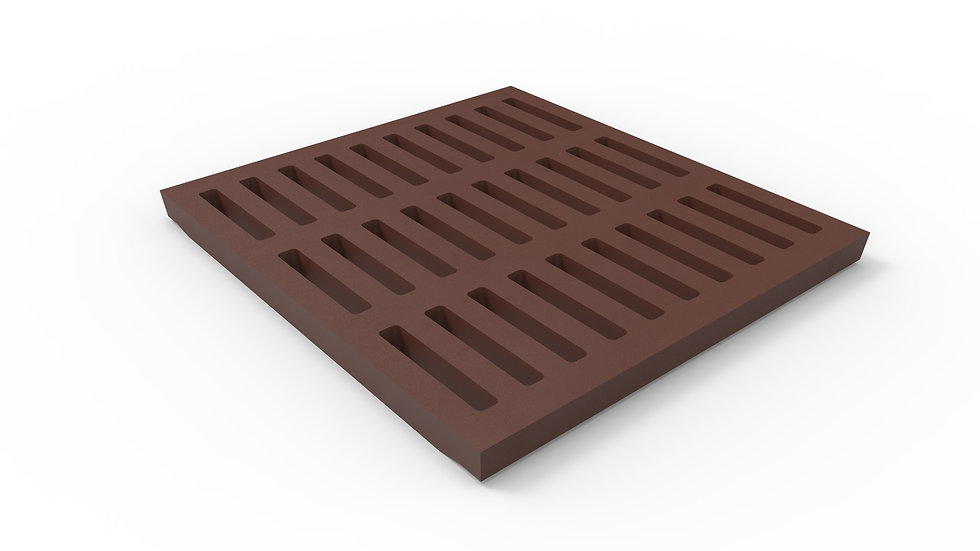 """26"""" wide cast iron slotted trench drain grate"""