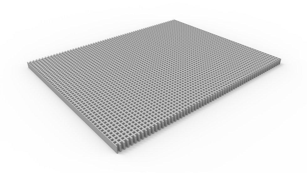 "38"" wide ADA compliant fiberglass mesh trench drain grate"