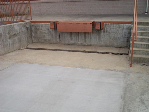 Trench drains and bumpers