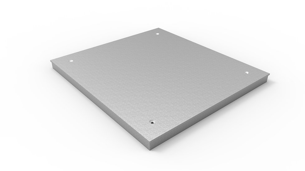 "26"" wide galvanized solid trench drain cover"