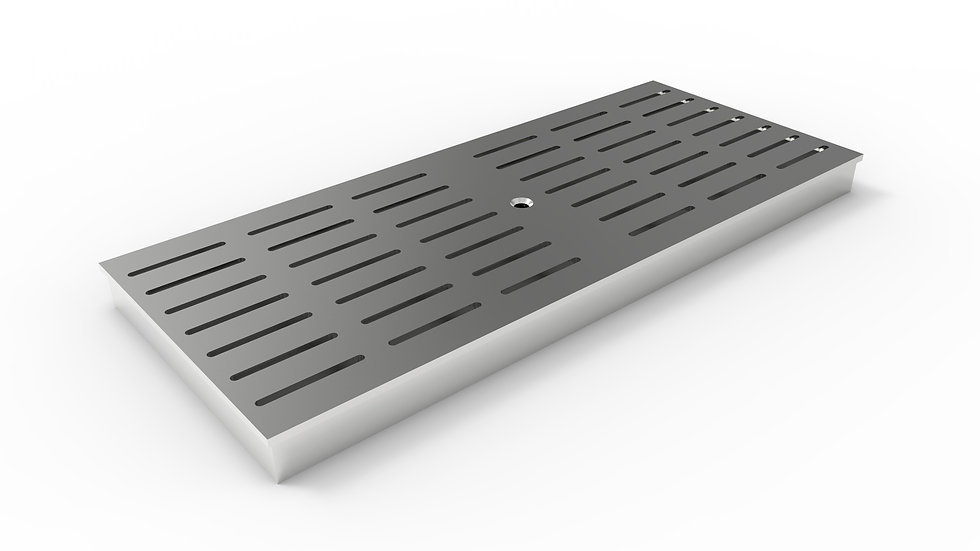 "10"" wide ADA/Heel proof stainless steel slotted trench drain grate"