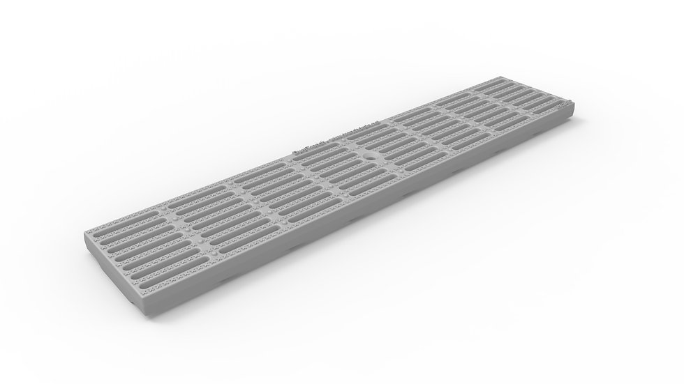 "5"" wide ADA / Heel proof longitudinally slotted plastic trench drain grate"