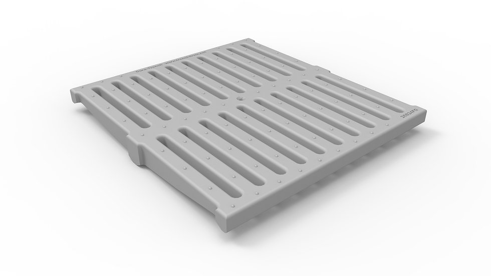 "26"" wide FRP slotted trench drain grate"
