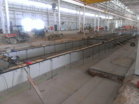 Cooling water process trench