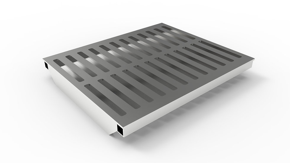 "20"" wide stainless steel slotted trench drain grate"