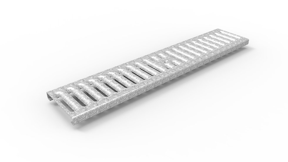 "5"" wide stamped galvanized steel slotted trench drain grate"