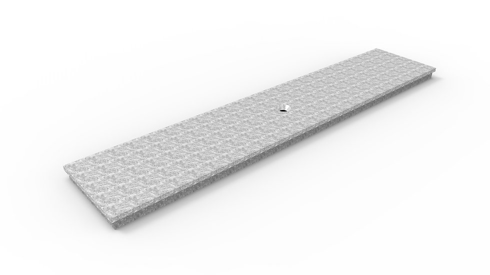 """5"""" wide galvanized steel solid trench drain cover"""