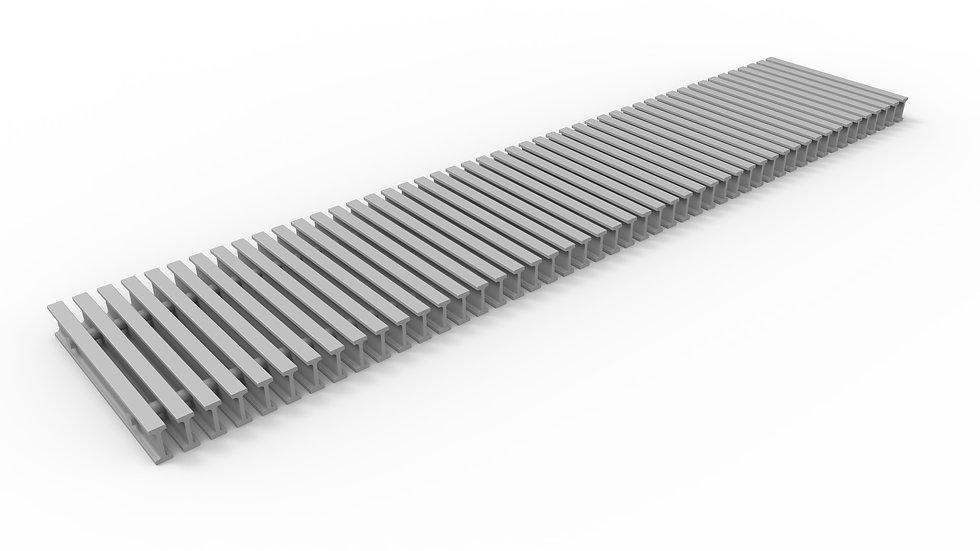 "10"" wide ADA compliant fiberglass trench drain bar grate"