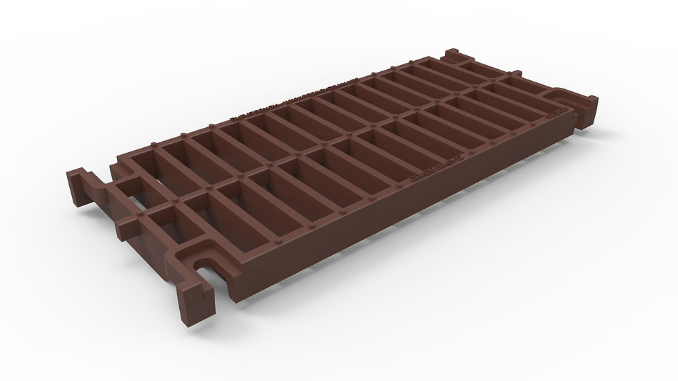 """10"""" wide ductile iron slotted trench drain grate"""