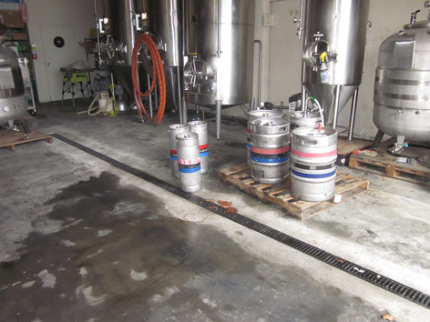 Brewery trench drains
