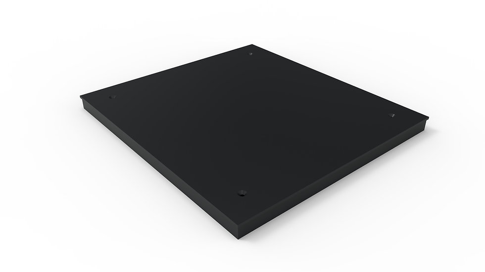 "26"" wide black solid trench drain cover"