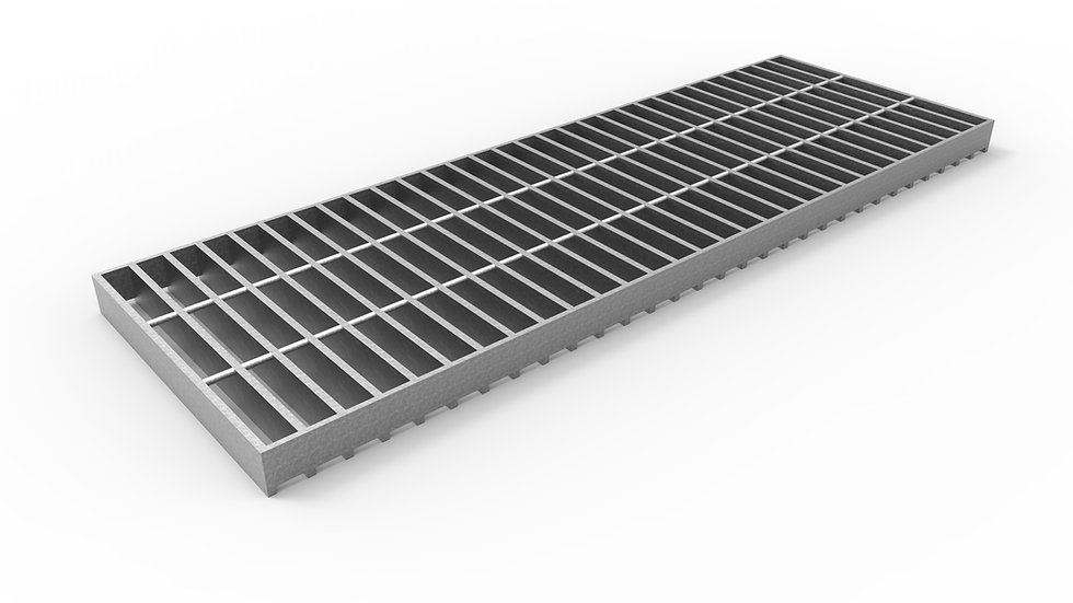 "12"" wide galvanized steel trench drain bar grate"