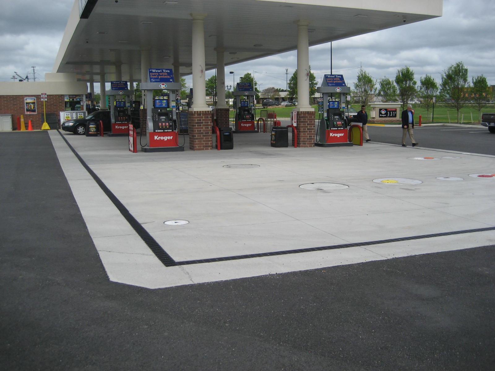 Fuel Island Trench Drains I Usa Ericsons Dura Lid Pad Dump Area