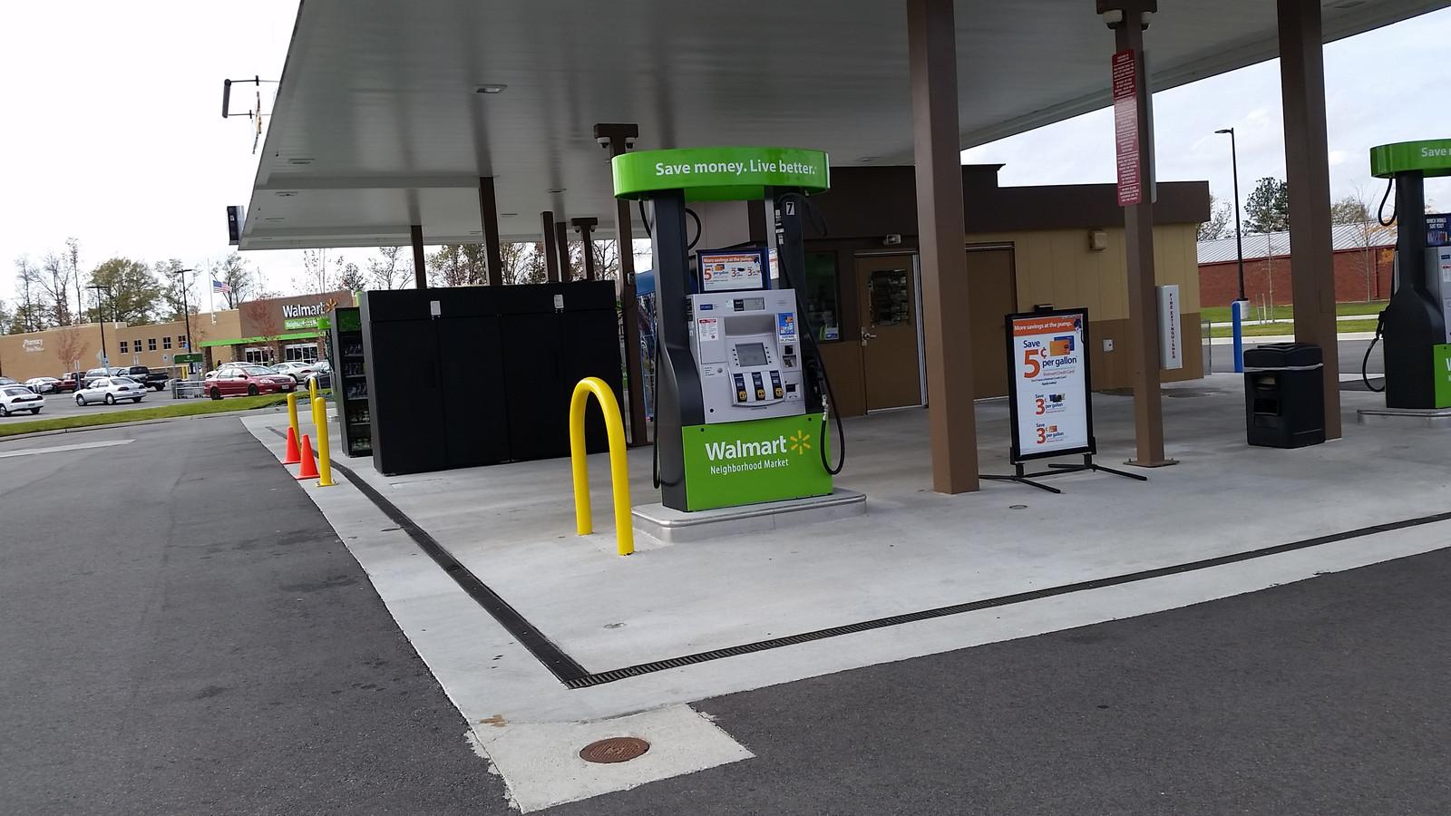 Fuel Island Trench Drains I Usa Ericsons Dura Lid Pad Walmart Gas Station