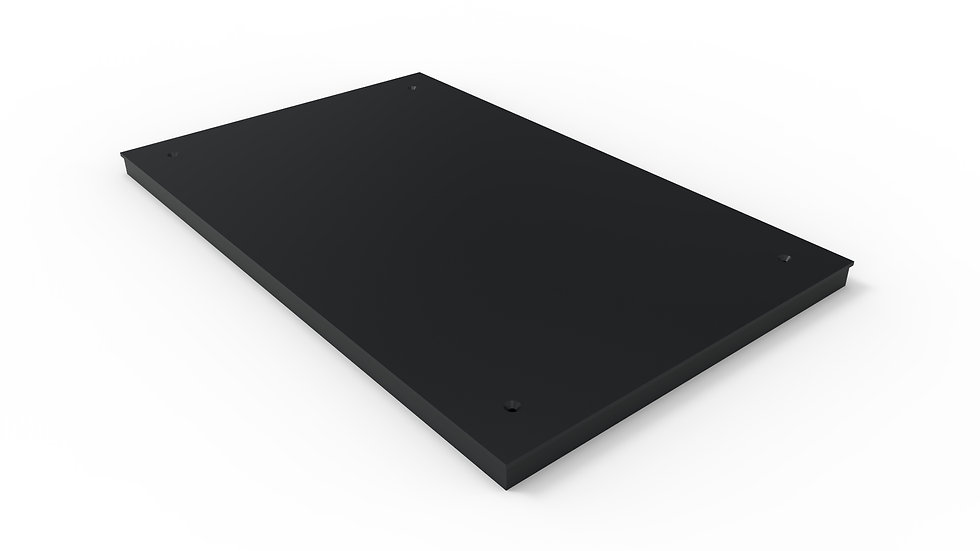 "38"" wide black solid trench drain cover"