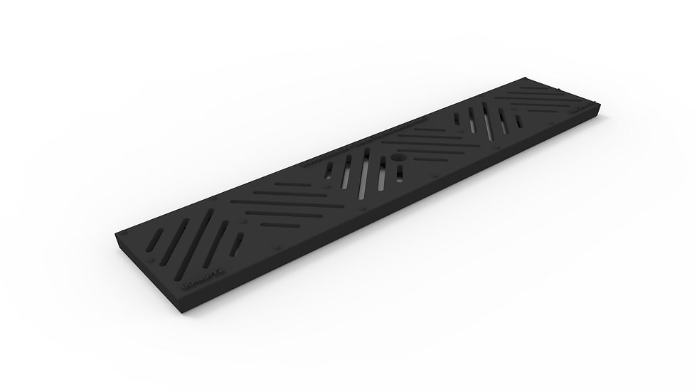 "5"" wide iron diagonal slotted trench drain grate"