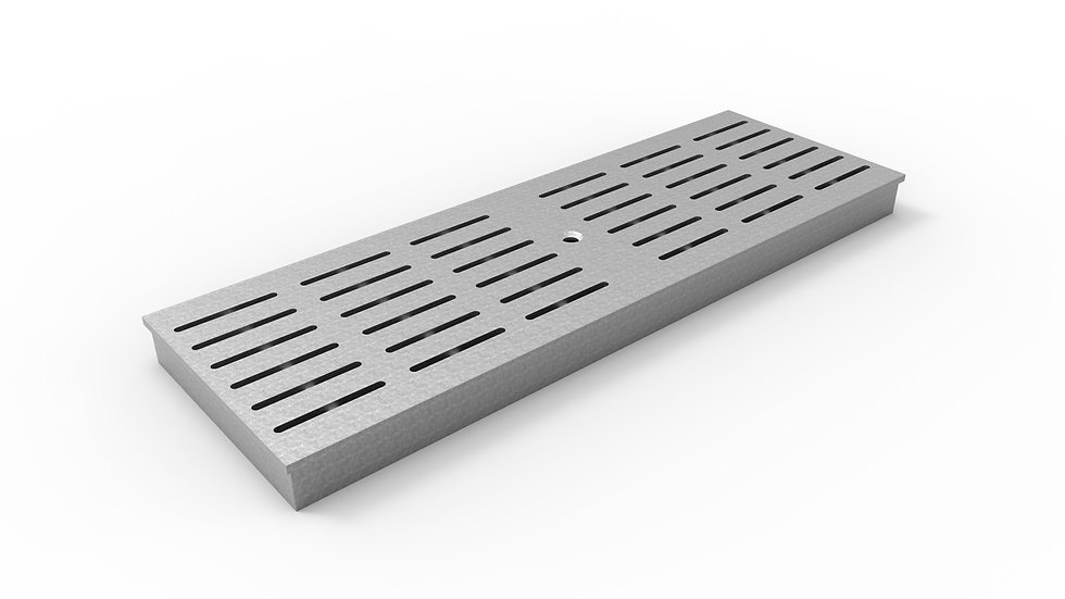 """8"""" wide ADA/Heel Proof galvanized slotted trench drain grate"""