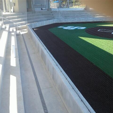 Dura Trench drain system at baseball stadium