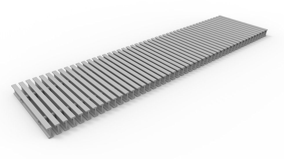 "12"" wide ADA compliant fiberglass trench drain bar grate"