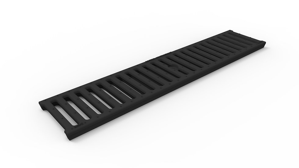 "5"" wide slotted ductile iron trench drain grate"