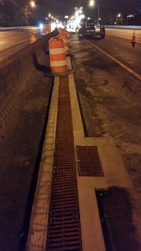 Interstate highway trench drain