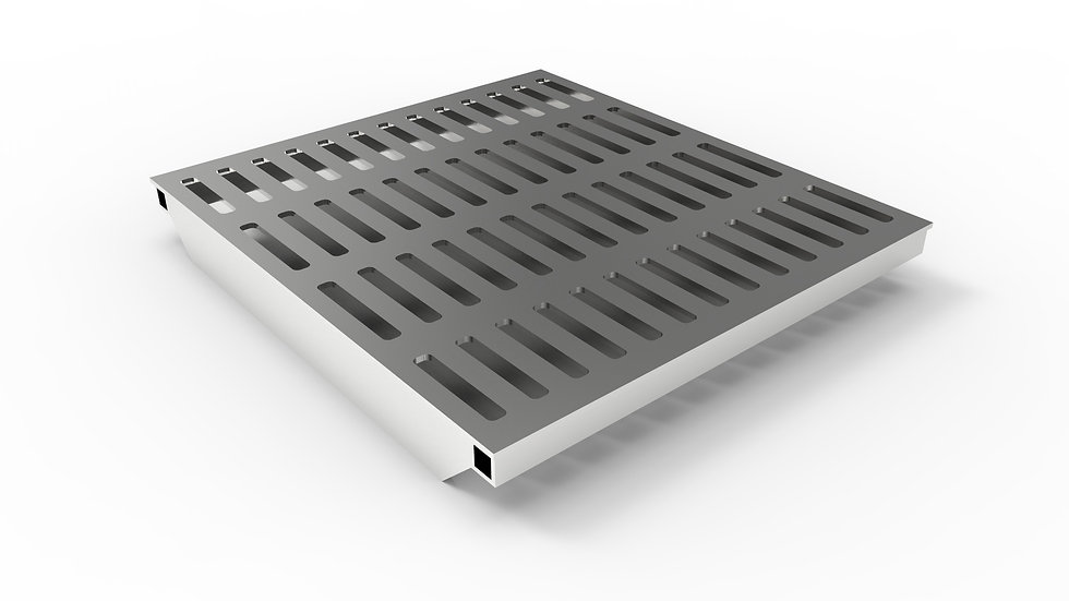 """26"""" wide stainless steel slotted trench drain grate"""