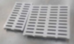 Compression molded fiberglass trench drain grates